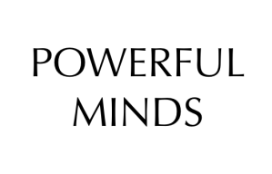 A logo I had in mind for my novel 'Powerful Minds'